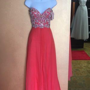 Blush prom dress